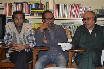 Shobuj Taposh, Hafiz Rashid Khan & Muhammad Nurul Islam at BNWIKI12 celebration in Chittagong (02).jpg