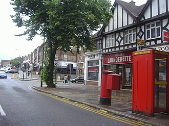 Rayners Lane - Image: Shops on junction of Rayners Lane and Village Way geograph.org.uk 2716276