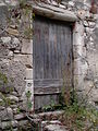 Side door of the Synagogue (now abandoned) in the Haute Ville of Vaison La Romaine, France.JPG