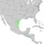Sideroxylon celastrinum range map 1.png
