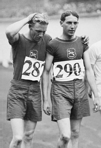 Sid Atkinson - Atkinson (left) with teammate George Weightman-Smith at the 1928 Olympics
