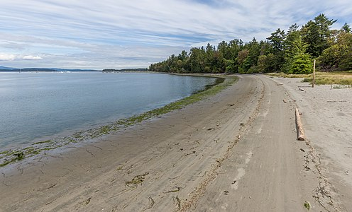 Sidney Spit - part of Gulf Islands National Park Reserve, Sidney Island, British Columbia, Canada