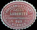Siegelmarke Bürgermeisteramt Ladowitz W0358759.jpg
