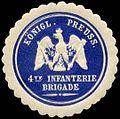 Siegelmarke Königlich Preussische 4te Infanterie Brigade W0238019.jpg