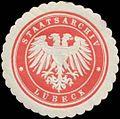Siegelmarke Staatsarchiv Lübeck W0393523.jpg