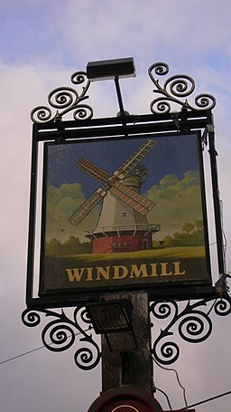 "Sign at the ""Windmill"" at Littleworth - geograph.org.uk - 1541174"