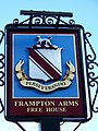 Sign for the Frampton Arms - geograph.org.uk - 1636907.jpg
