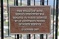 Sign on top of North Berwick Law - Whale Jaw Bone Replica.JPG