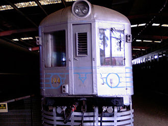 NSW Rail Museum - Preserved Silver City Comet power car DP104