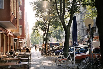 "Friedrichshain - Simon-Dach-Straße is the ""heart"" of Friedrichshain and one of the liveliest places in Berlin"