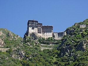 English: Simonopetra monastery in Agio Oros, A...