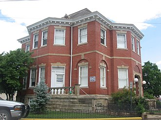National Register of Historic Places listings in Tyler County, West Virginia - Image: Sistersville City Hall from south