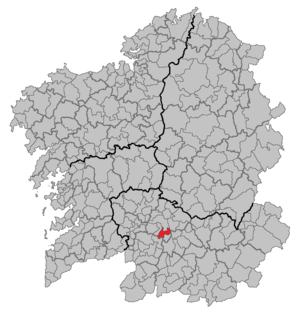 San Cibrao das Viñas - Image: Situacion San Cibrao das Viñas