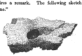 Sketch of alleged footprint of Cavall (stone from Carn Cavall with indentation resmbling a dog's foot).png