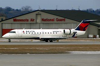 SkyWest Airlines - Delta Connection Bombardier CRJ-200 Owned and operated by SkyWest at Minneapolis-St Paul International Airport
