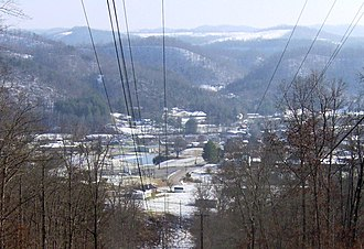 Sneedville, Tennessee - Sneedville, viewed from Newmans Ridge