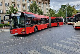 Solaris bus and trolleybuses in Vilnius.jpg
