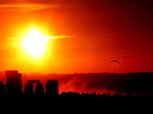 Solstice dawn at Stonehenge