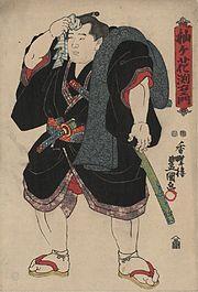 Sumo wrestler Somagahana Fuchiemon, c. 1850