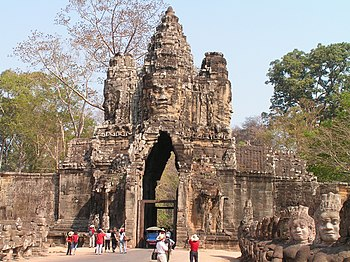 The south gate of Angkor Thom