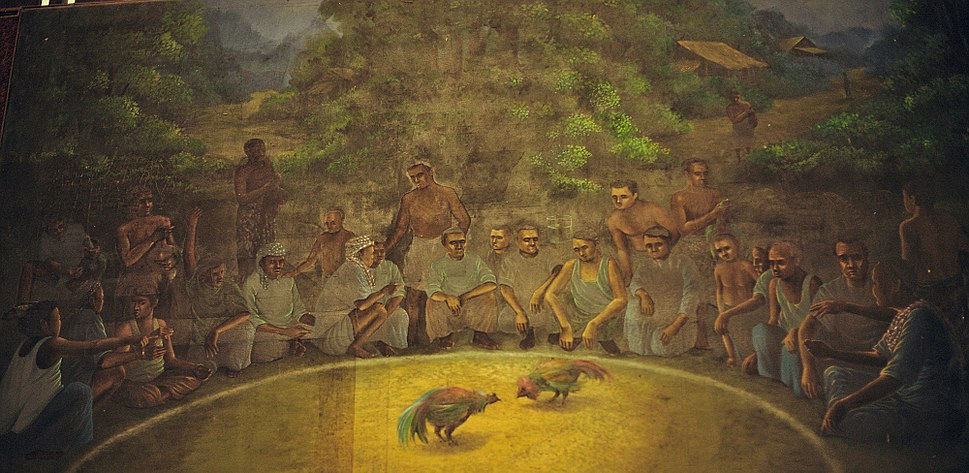 Southern-thailand-cock-fighting-painting