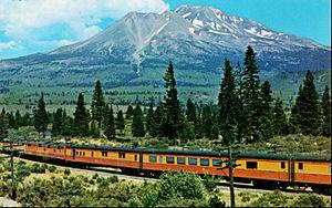 Shasta Daylight - The train west of Mount Shasta