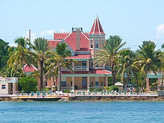 Southernmost House - Southernmost House as seen from the Atlantic Ocean