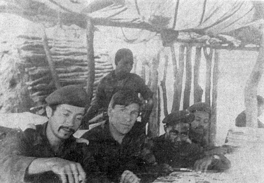 Soviet training instructors with PLAN recruits, late 1970s. Soviet instructors with SWAPO insurgents.jpg