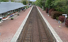 Spean Bridge railway station - looking towards Roy Bridge.JPG