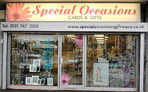 Castle Bromwich - Special Occasions Giftware on the Chester Road, Castle Bromwich.