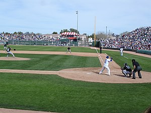 Spring training - A 2007 Cactus League game between the Cubs and the White Sox at HoHoKam Park.
