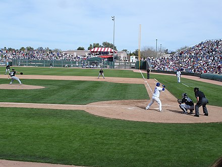A 2007 Cactus League game between the Cubs and the White Sox at HoHoKam Park SpringTrainingHoHoKamPark.jpg