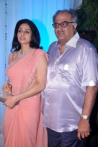 Sridevi - Sridevi with her husband in 2012
