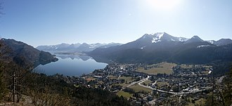 St. Gilgen - Image: St.Gilgen Panorama 2007 02 22