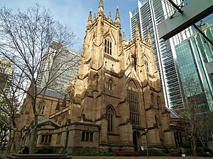 Architecture of Sydney - St Andrew's Cathedral by Edmund Blacket.