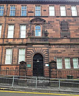 St Aloysius' College, Glasgow - Image: St Aloysius College entrance by Thomas Nugent Geograph 3906519