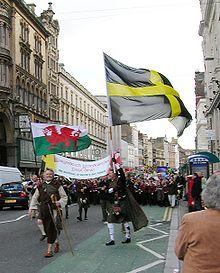 Sfilata in Cardiff, la capitale gallese, durante la festa di San Davide