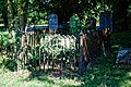 St Mary the Virgin's Church, Aythorpe Roding churchyard fenced tomb, Essex, England - view 2.jpg