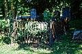 St Mary the Virgin's Church, Aythorpe Roding churchyard fenced tomb, Essex, England - view 2.jpg