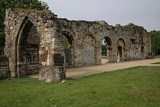 Æthelred, Lord of the Mercians - Ruins of St Oswald's Priory, Gloucester, where Æthelred and Æthelflæd were buried