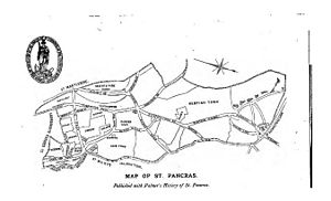 Metropolitan Borough of St Pancras - Map of St Pancras, published in 1870