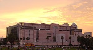 This photograph is of the St. Pete Times Forum...