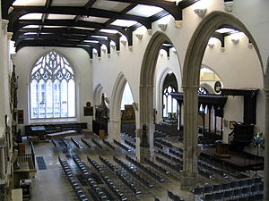 St Helen's Church, Bishopsgate - Interior of St Helen's Bishopsgate