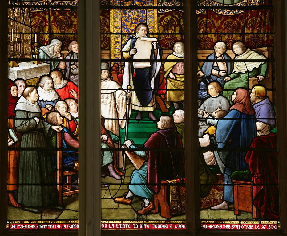 Vitrail de l'église Saint Nizier à Lyon - Photo de Photo Gérald Gambier