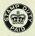 Stamp Duty Paid mark for British cheques from 1956.jpg