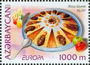Pilaf - Shirin plov on an Azerbaijani postage stamp