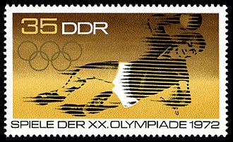 Handball - A postage stamp from East Germany depicting handball at the 1972 Olympics