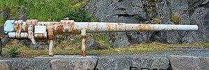 130 mm/55 B7 Pattern 1913 - Image: Stamsund Canon