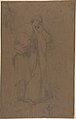 Standing Draped Male Figure, His Left Arm Resting on a Pedestal MET DP809316.jpg