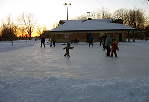 Outdoor ice rink in Ottawa.